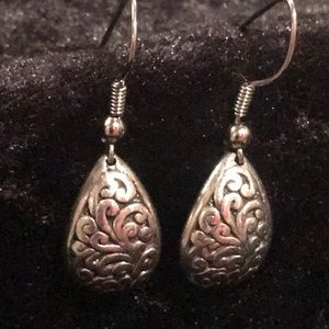 Cute sterling drop earrings